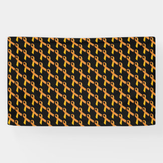 Orange Ribbons Tiled Pattern Banner