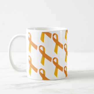 Orange Ribbons Tiled Pattern Coffee Mug
