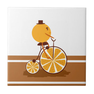 Orange ride ceramic tile