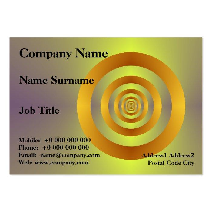 Orange Rings Chubby Business Card