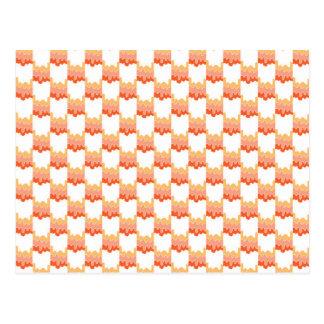 Orange ripple geometric postcard