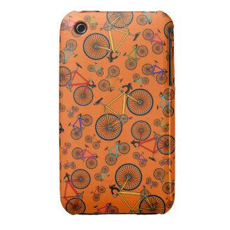 Orange road bikes iPhone 3 Case-Mate cases