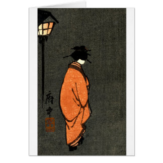 Orange Robed Geisha Card