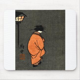 Orange Robed Geisha Mousepad