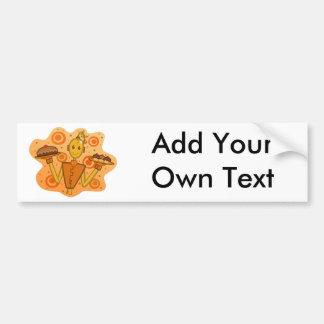 Orange Robot-Celebration Bumper Sticker