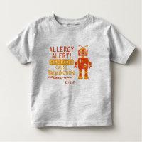 Orange Robot Food Allergy Alert Shirt