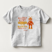 Orange Robot Food Allergy Alert Shirt