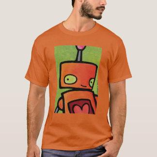 Orange Robot looking at You T-Shirt