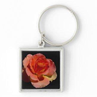 Orange Rose 2 zazzle_keychain