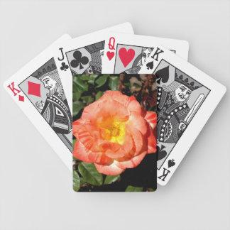 Orange Rose Bicycle® Playing Cards