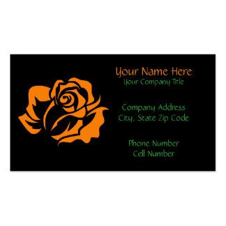 Orange Rose Bloom Customizable Business Card