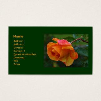 Orange Rose Business Card