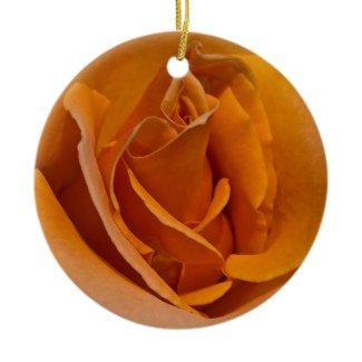 Orange Rose Christmas Ornament