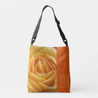 Orange Rose Design Cross Over Body Bag Delight Tote Bag