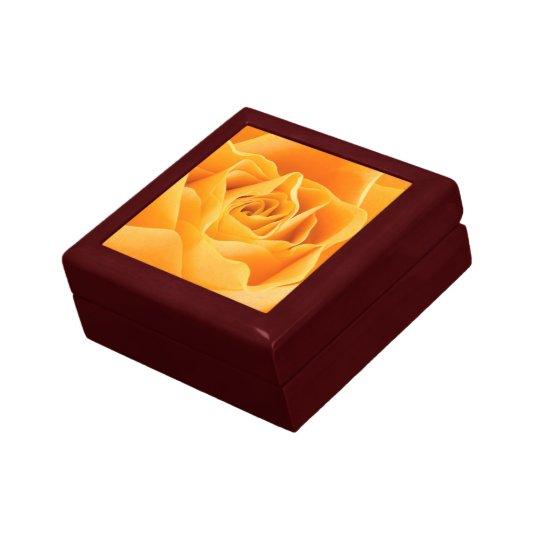 Orange Rose Flower Gift Box