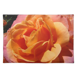 Orange Rose Flower Pacemats custom Roses Place mat