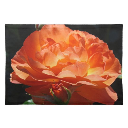 Orange Rose Flower Placemats Roses Floral
