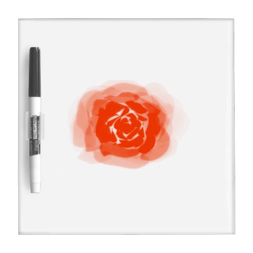 Orange rose graphic dry erase whiteboard