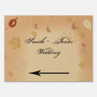 Orange Rose in the Fall Wedding Direction Sign