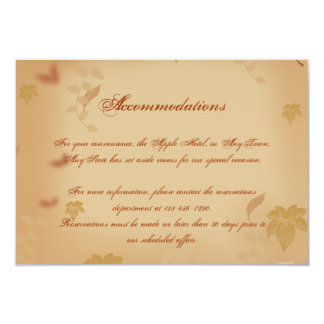 Orange Rose in the Fall Wedding Insert Personalized Invite