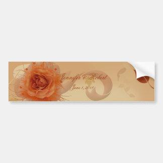 Orange Rose in the Fall Wine Label