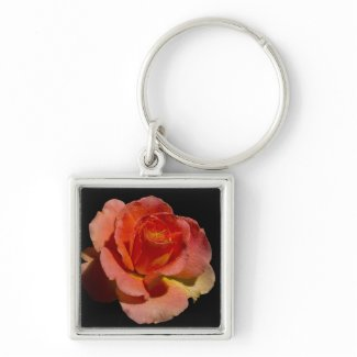 Orange Rose zazzle_keychain