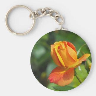 Orange Rose Keychain