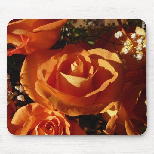 Orange Rose Mouse Pad