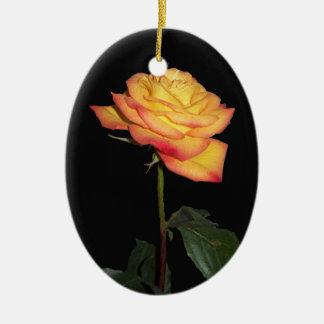Orange Rose  Oval Ornament
