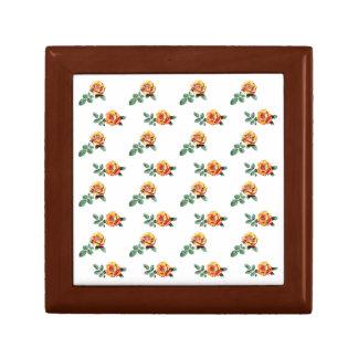 orange rose pattern gift box
