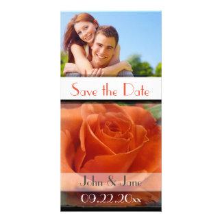 "Orange Rose /photo  ""Save the Date"" Photo Card"