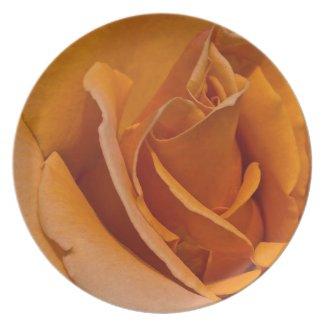 Orange Rose Plate plate