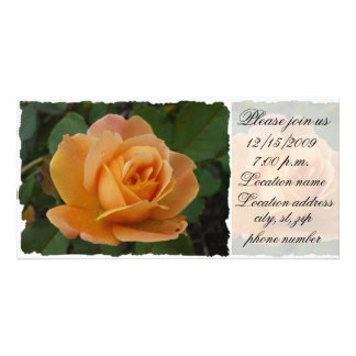 Orange Rose Please join us Card