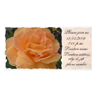 Orange Rose Please join us Card