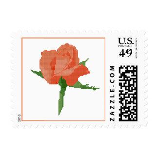 Orange Rose Postage