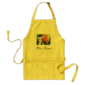orange rose, Rose Queen Adult Apron