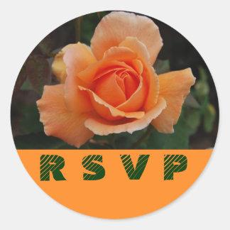 Orange Rose RSVP Envelope Seals