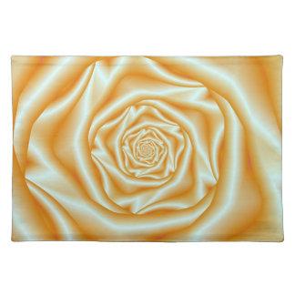Orange Rose Spiral Placemats Cloth Placemat