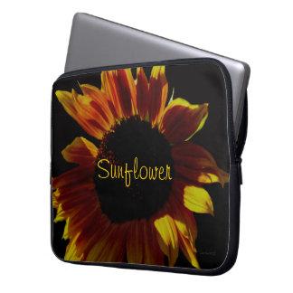Orange Rose Sunflower Laptop Sleeve