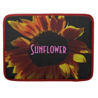 Orange Rose Sunflower Sleeve For MacBook Pro