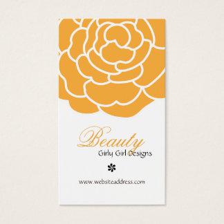 Orange Rose Vertical Business Cards