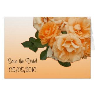 orange rose wedding invitation card