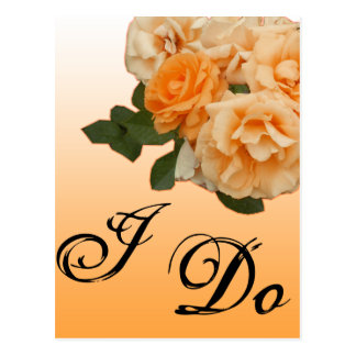 orange rose wedding invitation card post card