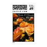 Orange Rose * Wedding Postage Stamps