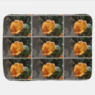 Orange Rose Receiving Blanket