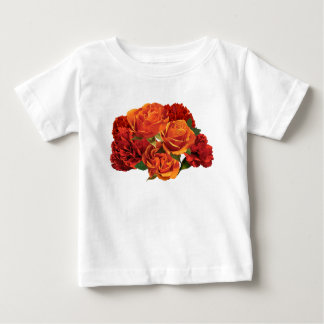 Orange Roses and Red Carnations Infants T Shirts