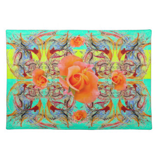 Orange Roses by Alexandra Cook Cloth Placemat