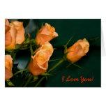 Orange Roses Cards