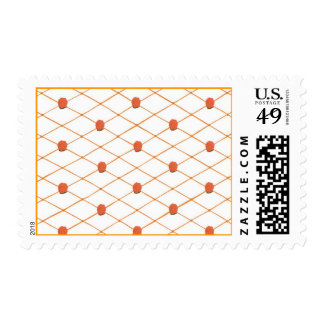 Orange Roses Criss Cross Quilt Pattern Stamps