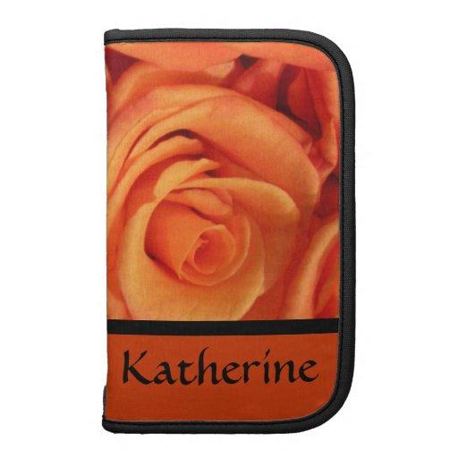 Orange Roses Customized Journal Organizer